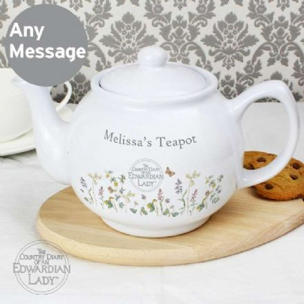 Personalised Country Diary Wild Flowers Teapot